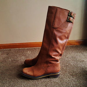 Lucky Brand High Boot - Tobacco Leather Boots